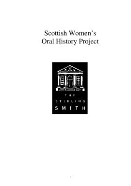 Publication about Scottish Women's Oral History Project