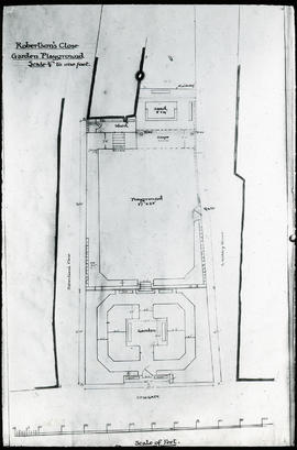 Site plan for development of Robertson Close Playground