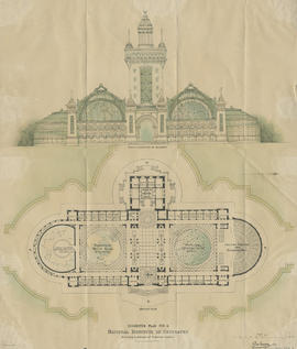 Suggested plan for National Institute of Geography, Edinburgh