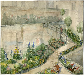 Sketch of King's Wall Garden, arranged by O[pen] Spaces Committee