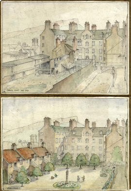 Sketches of Chessel's Court by Norah Geddes
