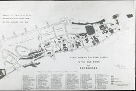 Plan showing the open spaces in the Old Town of Edinburgh