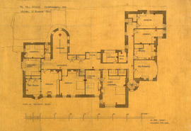 Plan of bedroom floor [first floor]