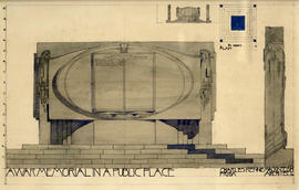 Design for a war memorial in a public place
