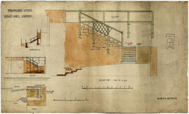 Sections and elevations of proposed steps at King's Wall Garden, by Norah Geddes