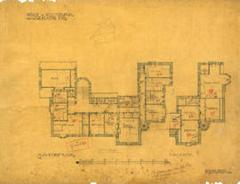Plan of first floor and attic