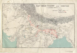 Map of East Indian Railway and connections