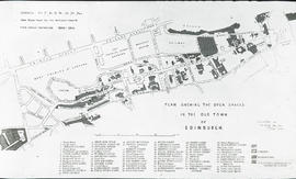 Plan showing the open spaces in the Old Town of Edinburgh saturday